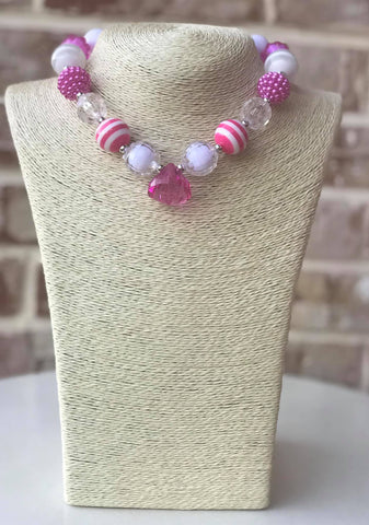 Pretty In Pink Bauble Chunky Necklace