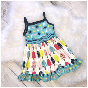 Ice Cream Spaghetti Strap Dress