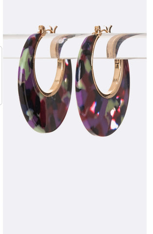 Purple multi color hoop