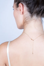 Load image into Gallery viewer, Lariat Diamond Necklace - Yellow Gold