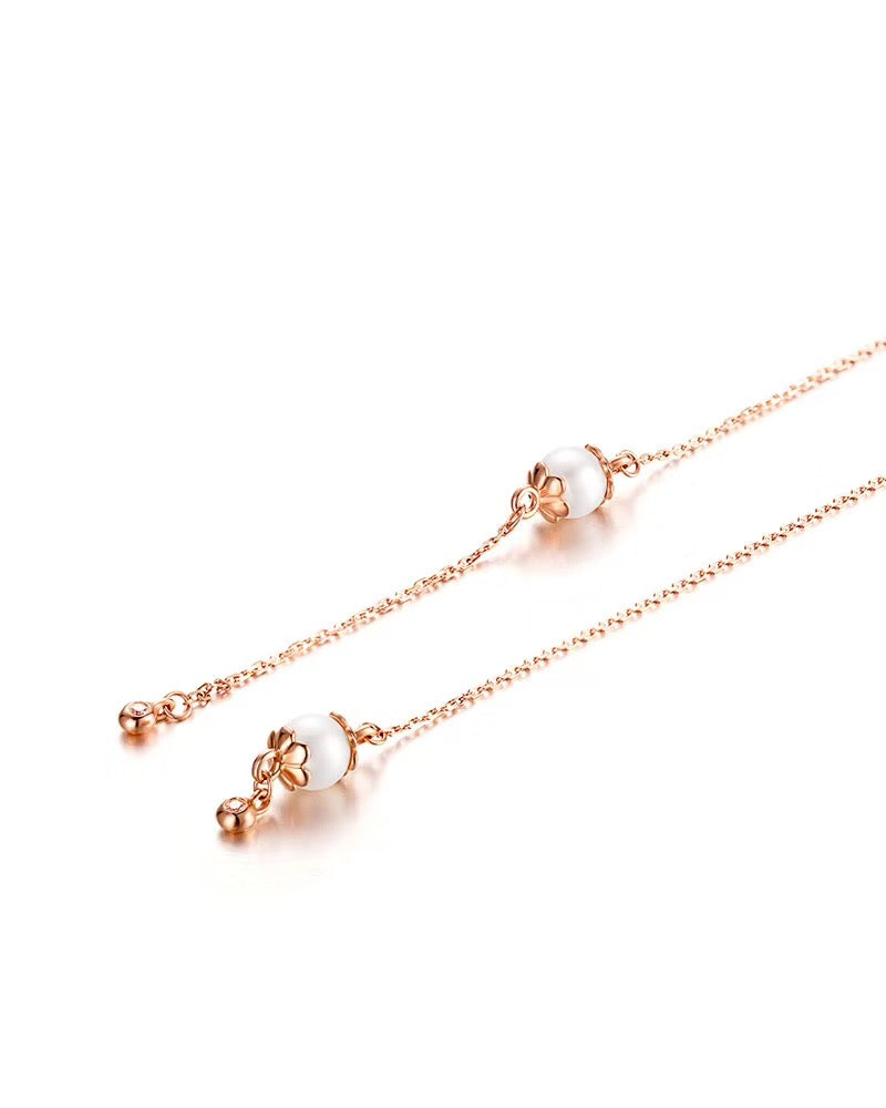 Rose Gold Pearl Threader