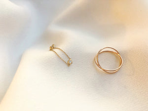 Diamond Chain Ring - Yellow Gold