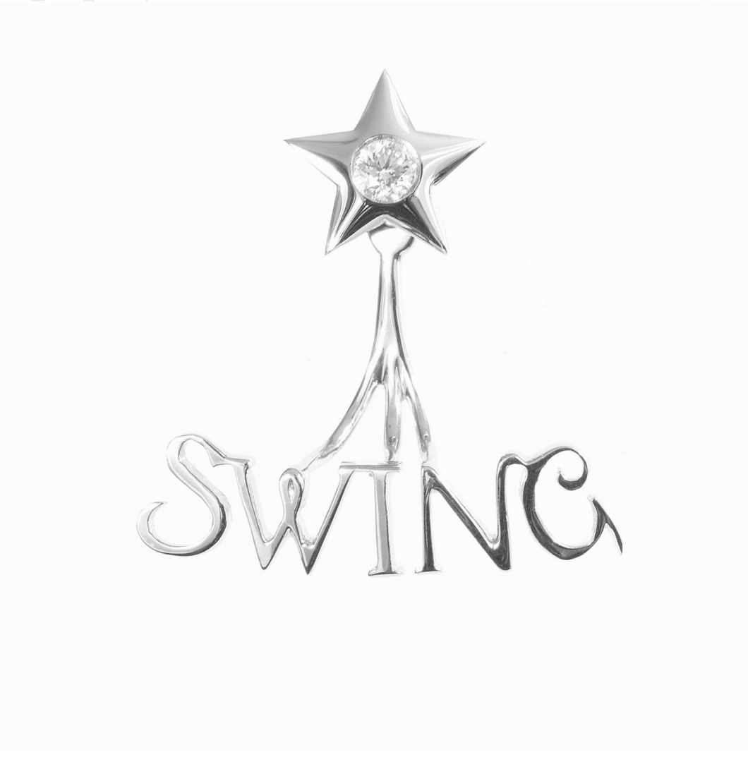 Swing and Fling Signature Earrings - White Gold