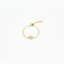 Load image into Gallery viewer, Diamond Chain Ring - Yellow Gold