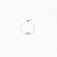 Load image into Gallery viewer, Diamond Chain Ring - White Gold