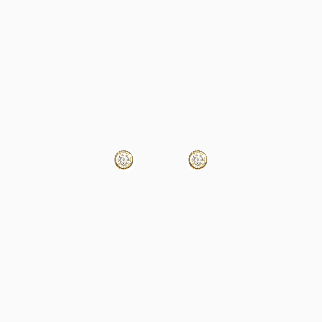 Diamond Studs - Yellow Gold
