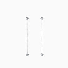Load image into Gallery viewer, Duet Diamond Chain Earrings - White Gold