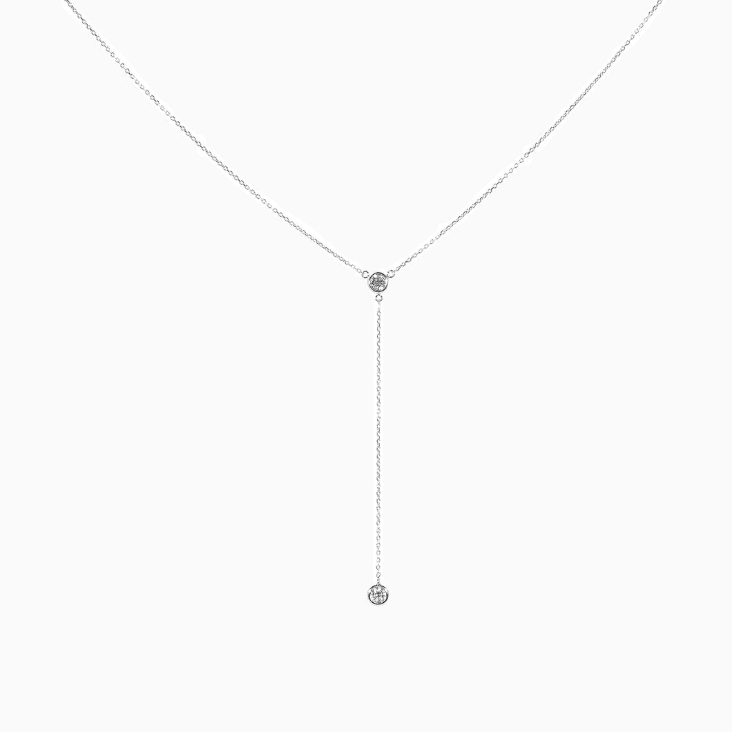 Lariat Diamond Necklace - White Gold