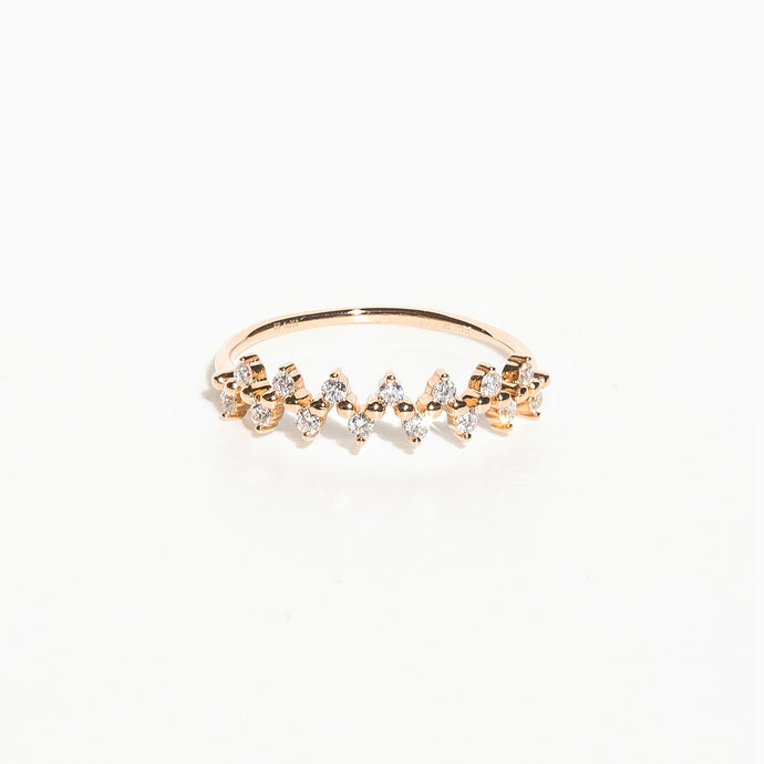 Olive Branch Diamond Ring