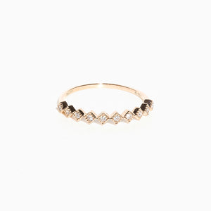 Spade Dots Diamond Ring