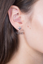Load image into Gallery viewer, Star Diamond Studs - White Gold