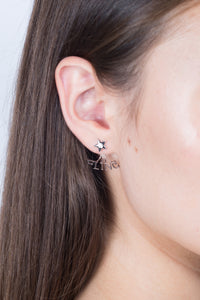 Star Diamond Studs - White Gold