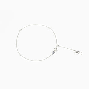 Trio Diamond Bracelet - White Gold