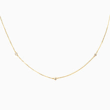 Load image into Gallery viewer, Trio Diamond Necklace - Yellow Gold