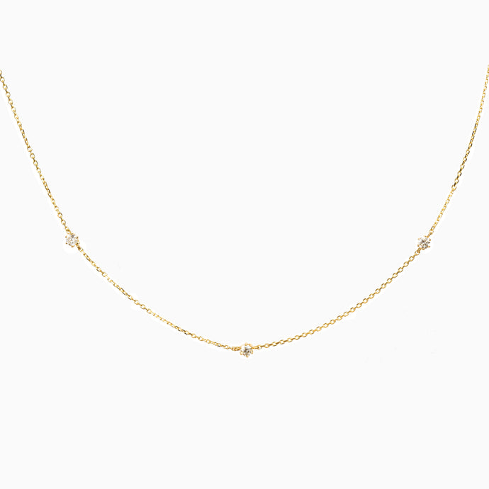 Trio Diamond Necklace - Yellow Gold