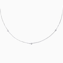 Load image into Gallery viewer, Trio Diamond Necklace - White Gold