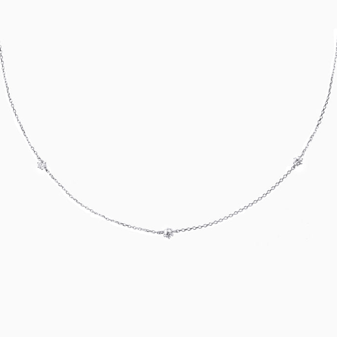 Trio Diamond Necklace - White Gold