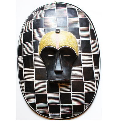 African Wooden Shield and Face mask