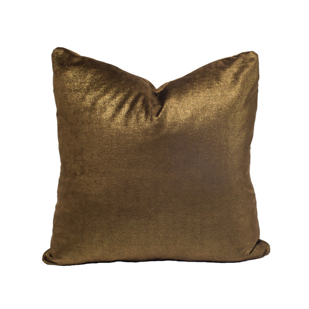 Chocolate Sparkle Velvet Pillow Cover