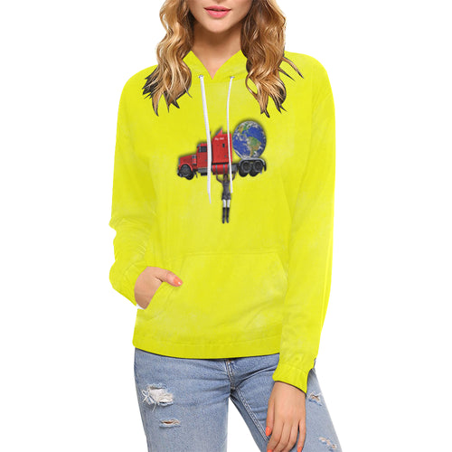 Nothing Crushes Her Women's All Over Print Hoodie (USA Size)