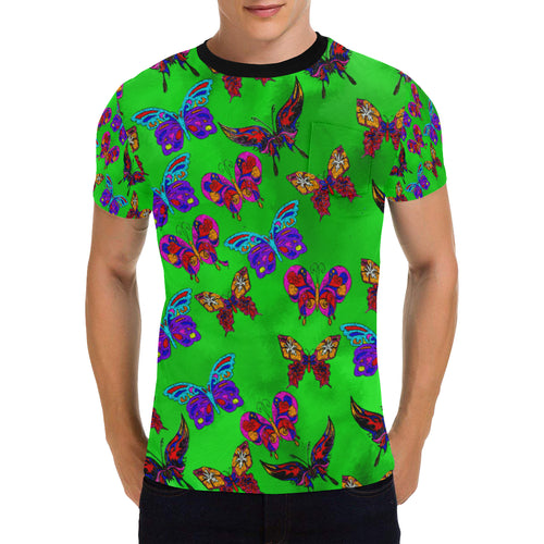 Butterfly Topia Men's All Over Print Patch Pocket T-Shirt