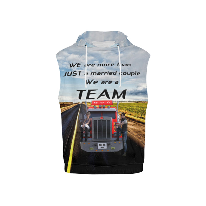 Teamdriver Kid's All Over Print Sleeveless Hoodie