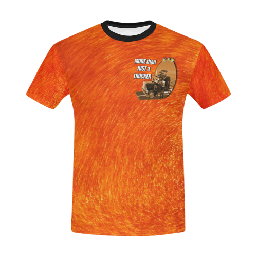 Orange gold tiger  All Over Print T-Shirt for Men/Large Size (USA Size)