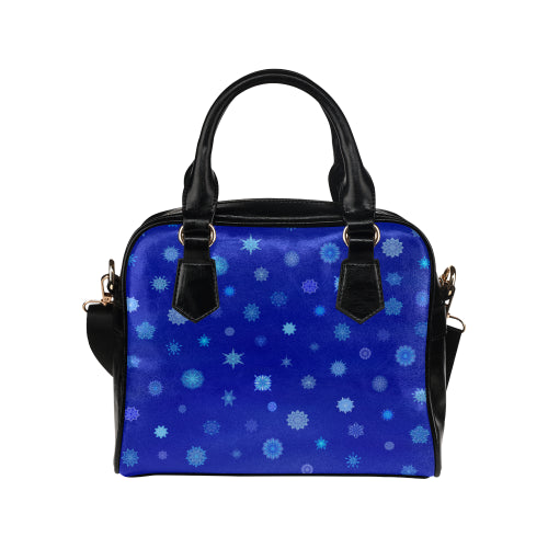 Snowflakes Shoulder Handbag