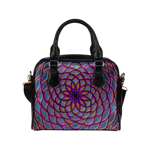 Center Flower Shoulder Handbag
