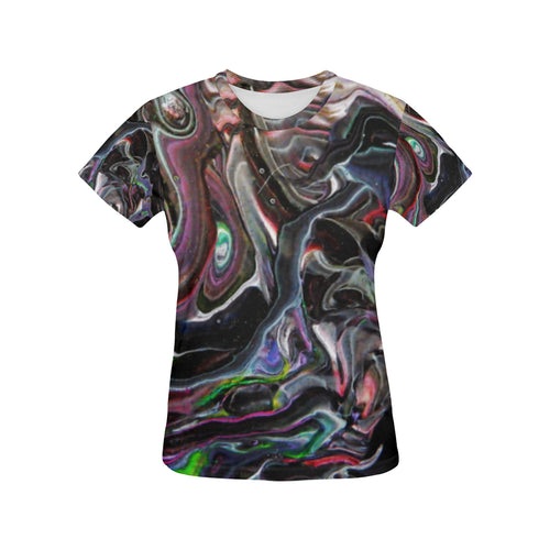 Universe Interrupted Women's All Over Print T-shirt (USA Size)
