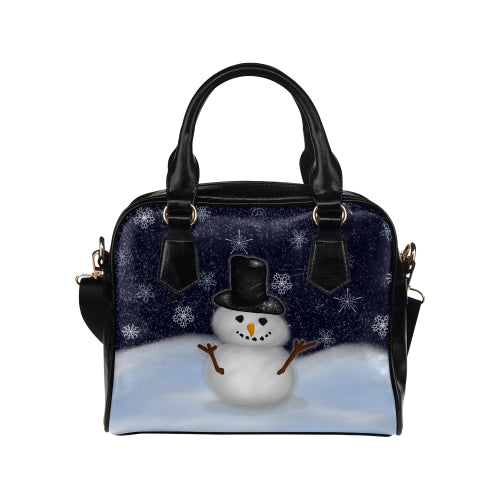 Snowman Shoulder Handbag