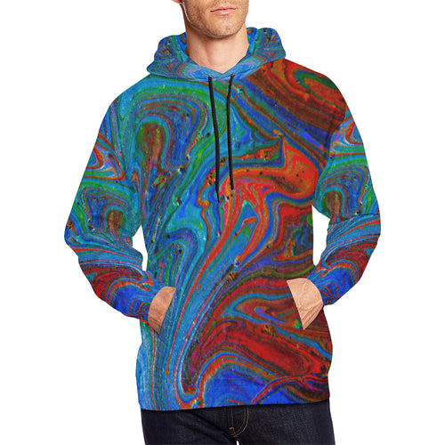 Runny Funny Men's All Over Print Hoodie Large Size (USA Size)