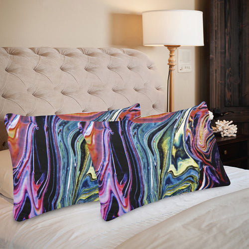 Downward River Rectangle Pillow Case 20