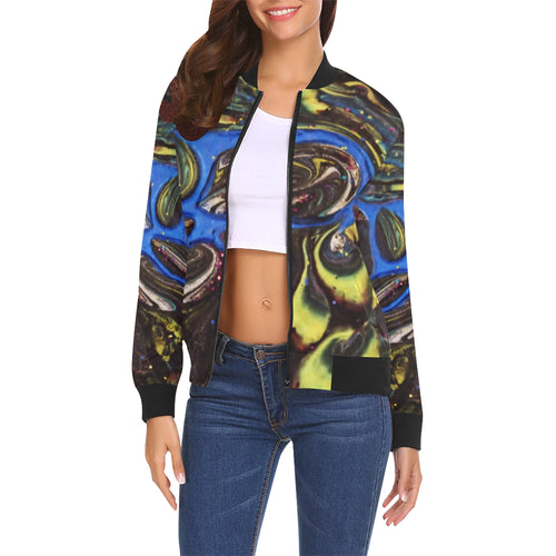Yellow Petals Women's All Over Print Casual Jacket