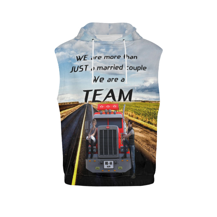 Teamdriver Men's All Over Print Sleeveless Hoodie