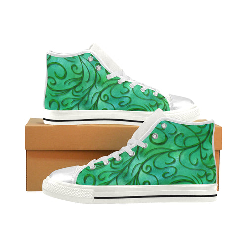 Simple Vines Aquila High Top Canvas Kid's Shoes