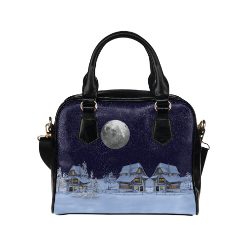 Winter Wonder World Shoulder Handbag
