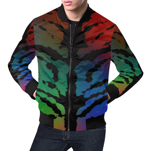 Inkstained Rainbow Men's All Over Print Casual Jacket