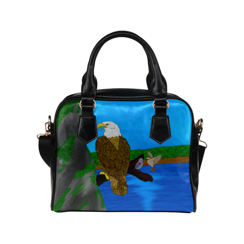 Eagle at Lake Shoulder Handbag