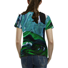Climbing Greens Women's All Over Print T-shirt (USA Size)