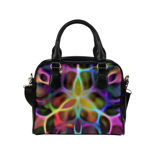 Rainbow Web Shoulder Handbag