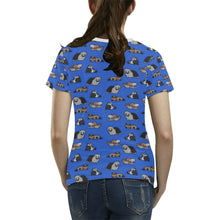Ferret Pattern Women's All Over Print T-shirt (USA Size) (Large Size)