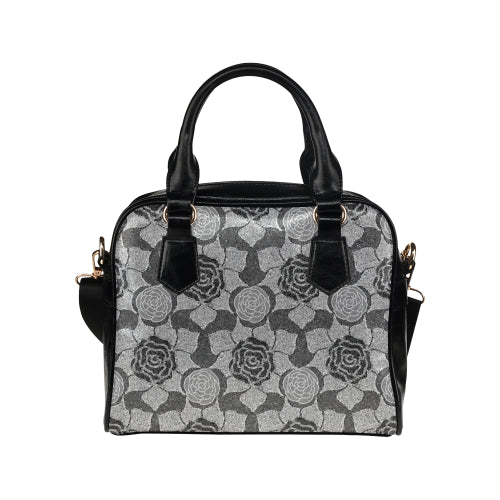 Stone Roses Shoulder Handbag