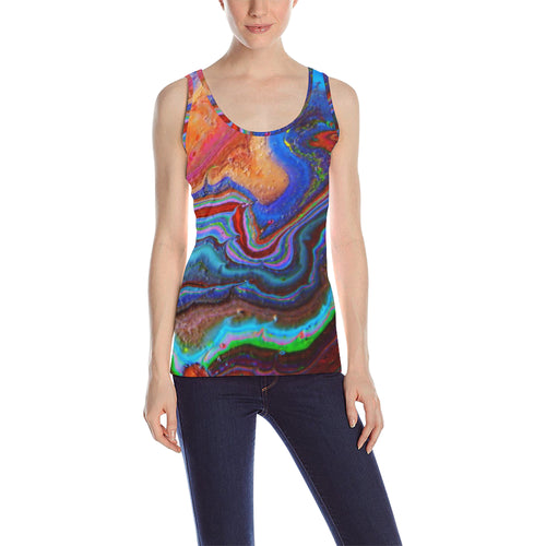 Color World Women's All Over Print Tank Top