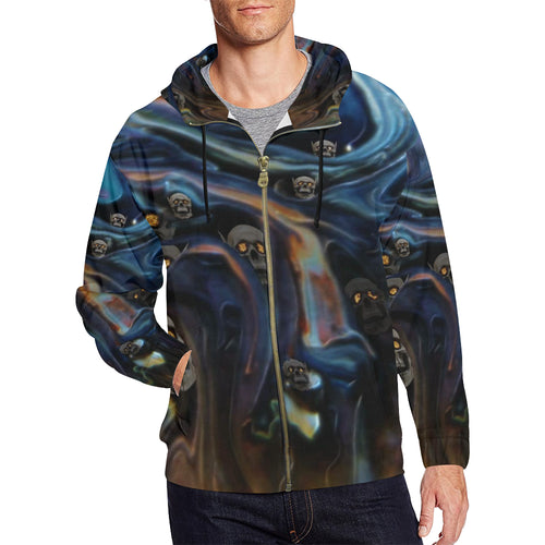 A Piece of Hell Men's All Over Print Full Zip Hoodie
