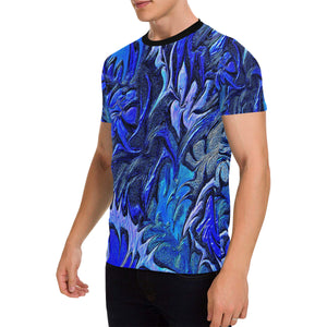 Aurora Florialis Men's All Over Print Patch Pocket T-Shirt
