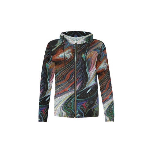 Wonkyverse Youth All Over Print Full Zip Hoodie