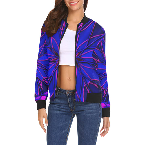 CornFlower Women's All Over Print Casual Jacket