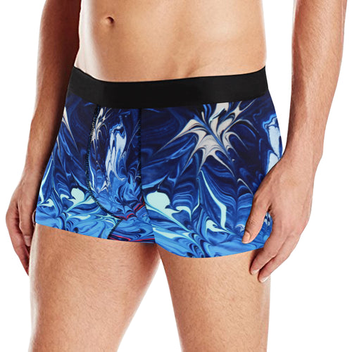 Exploding Blue Men's All Over Print Briefs