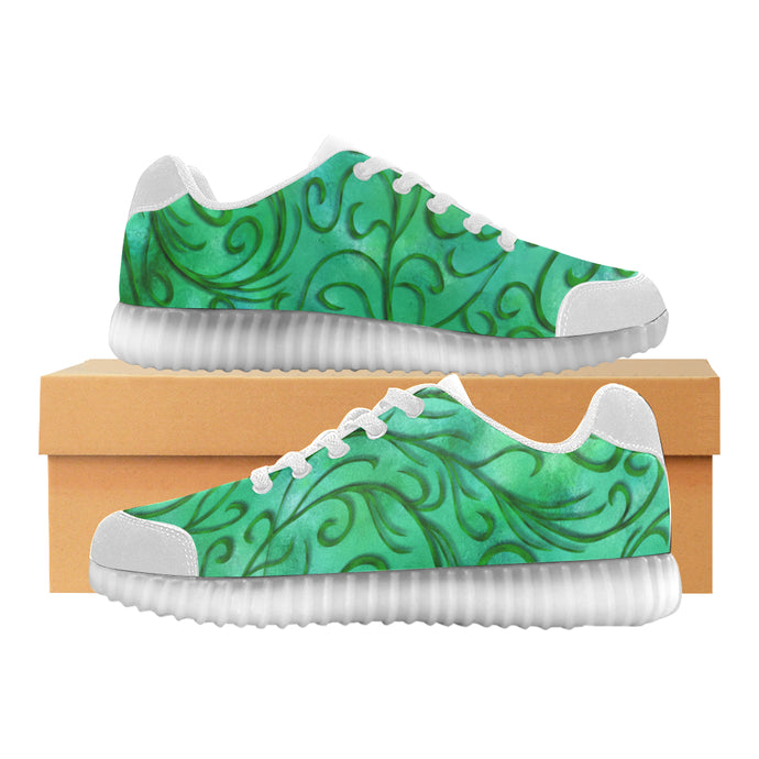 Simple Vines Light Up Casual Women's Shoes
